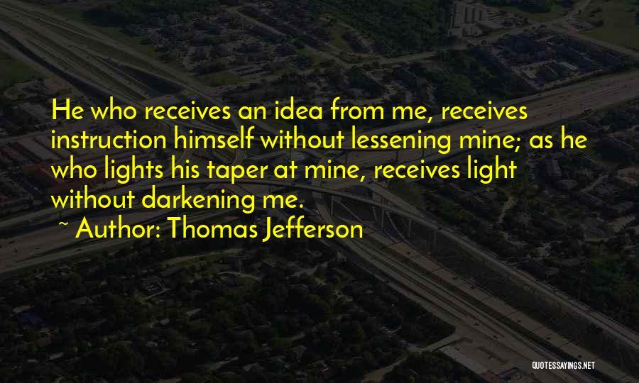Darkening Quotes By Thomas Jefferson