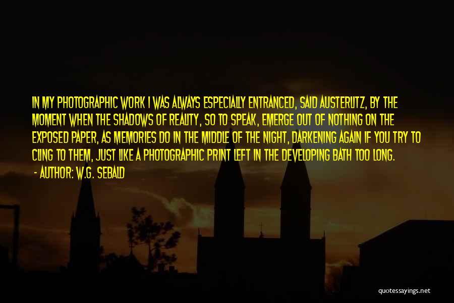 Darkening Quotes By W.G. Sebald