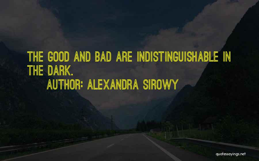Darkness And Evil Quotes By Alexandra Sirowy