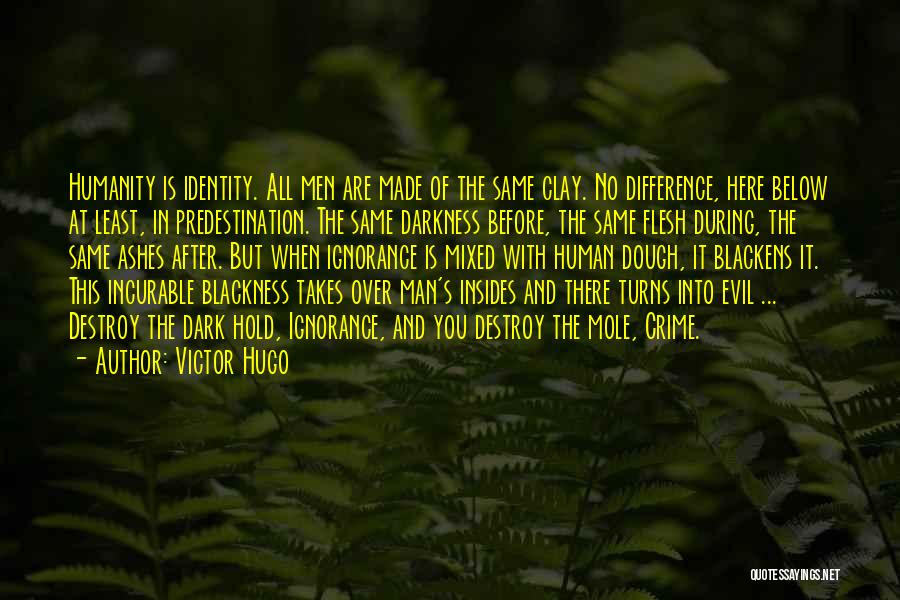 Darkness And Evil Quotes By Victor Hugo