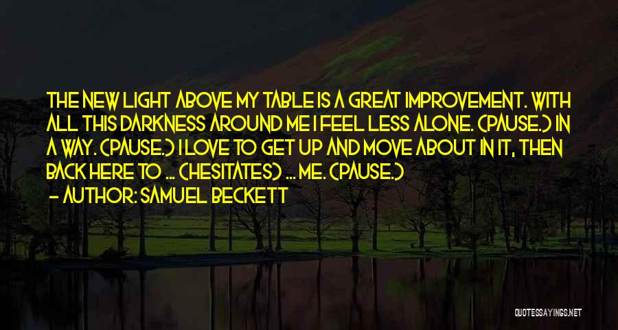 Darkness And Love Quotes By Samuel Beckett