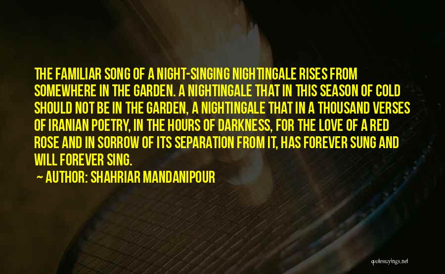 Darkness And Love Quotes By Shahriar Mandanipour