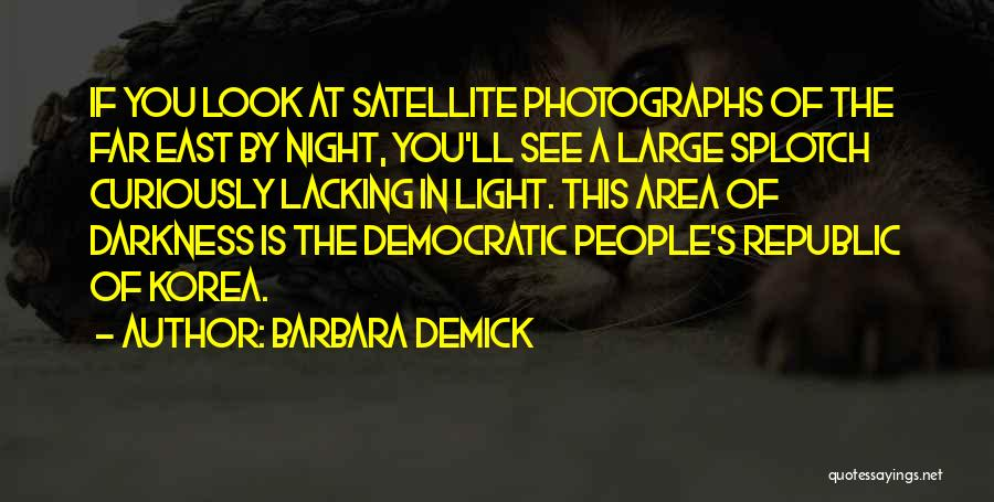 Darkness Of The Night Quotes By Barbara Demick