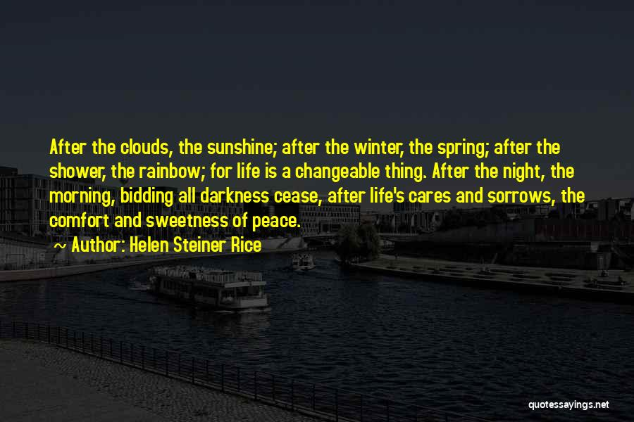 Darkness Of The Night Quotes By Helen Steiner Rice