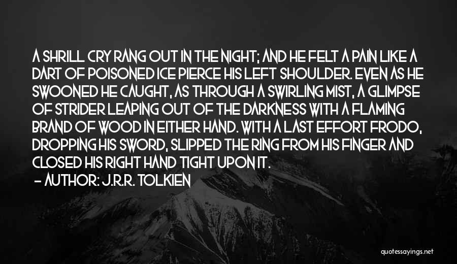 Darkness Of The Night Quotes By J.R.R. Tolkien