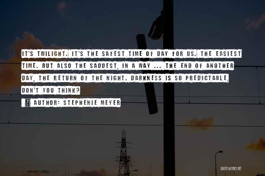 Darkness Of The Night Quotes By Stephenie Meyer