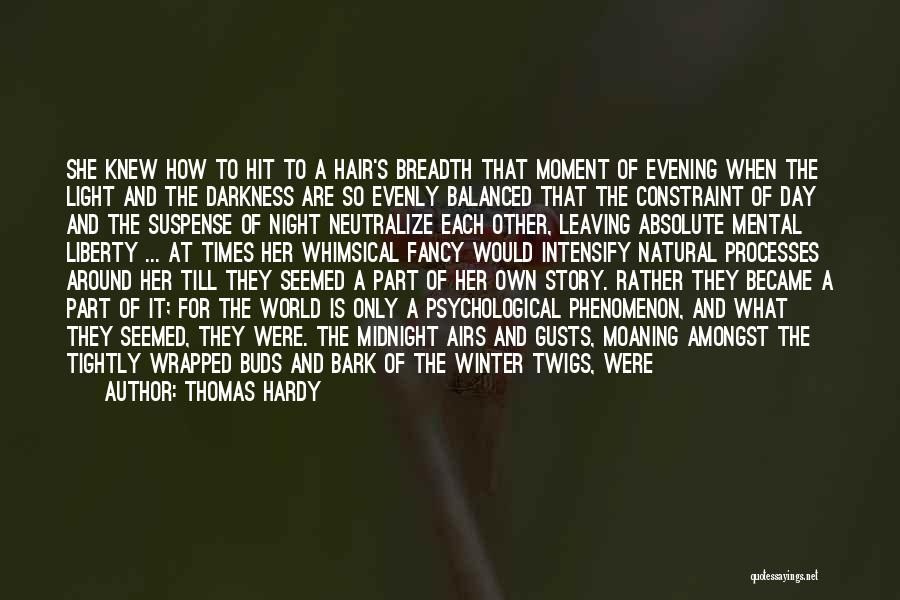 Darkness Of The Night Quotes By Thomas Hardy