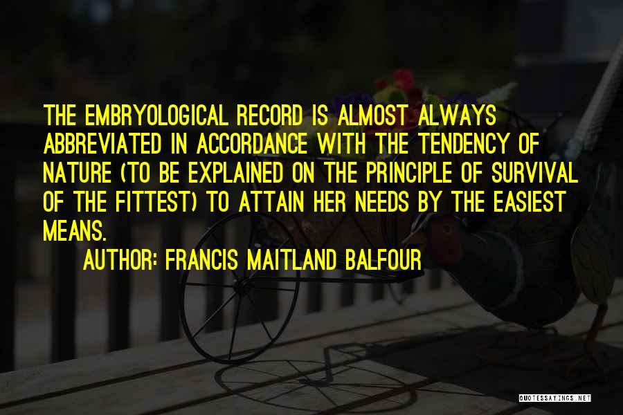 Darwin Natural Selection Quotes By Francis Maitland Balfour