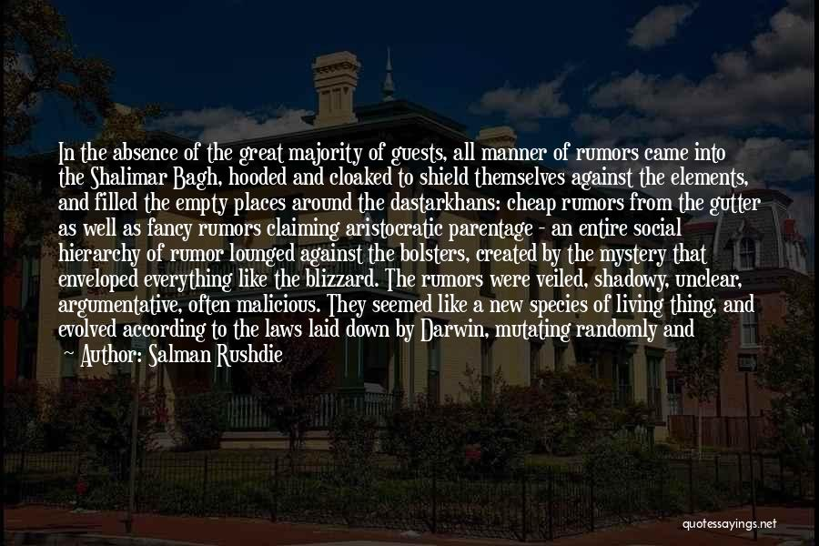 Darwin Natural Selection Quotes By Salman Rushdie