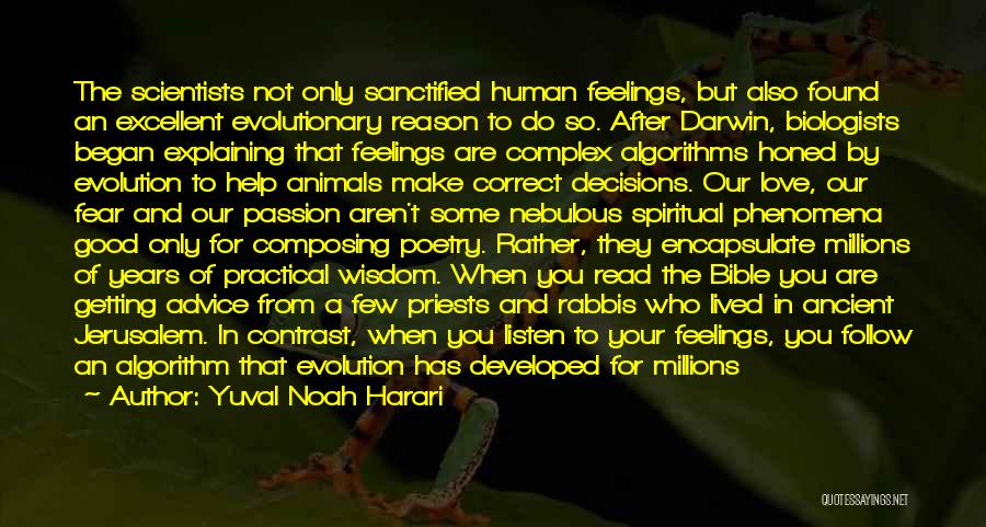 Darwin Natural Selection Quotes By Yuval Noah Harari
