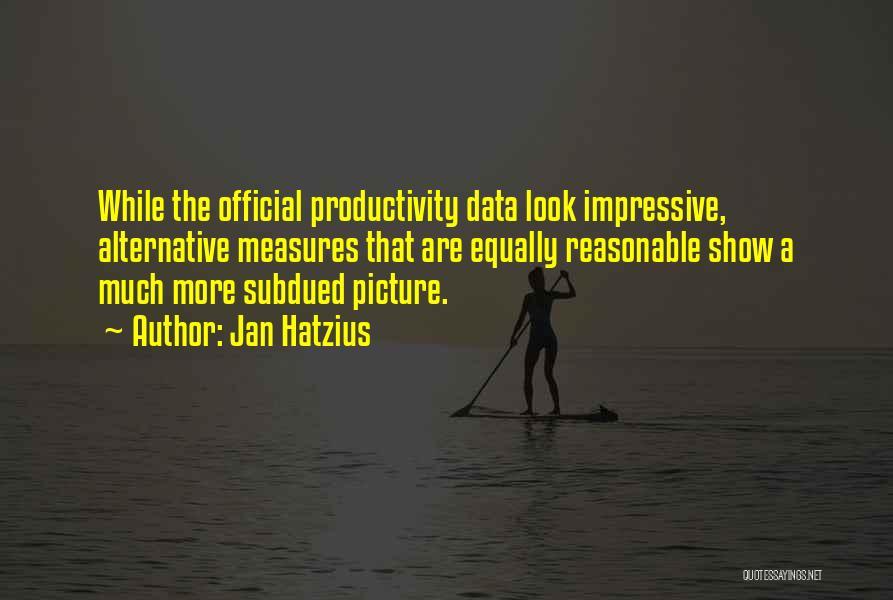 Data Viz Quotes By Jan Hatzius