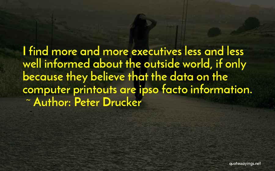 Data Viz Quotes By Peter Drucker