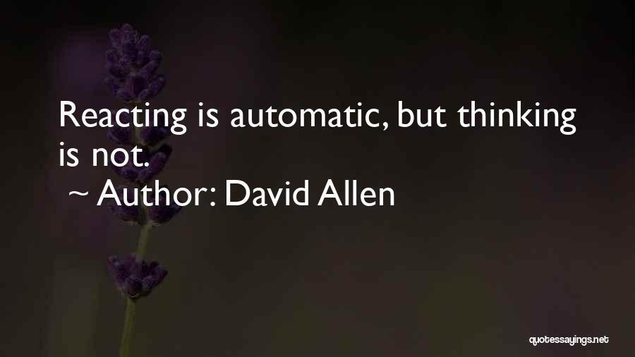 David Allen Quotes 154032