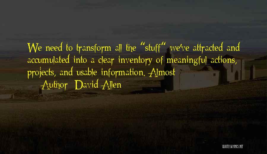 David Allen Quotes 1617399