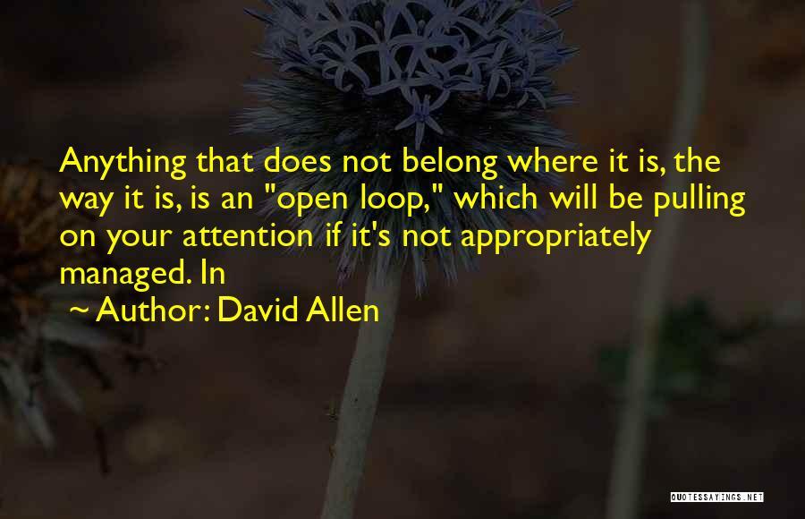David Allen Quotes 1747885