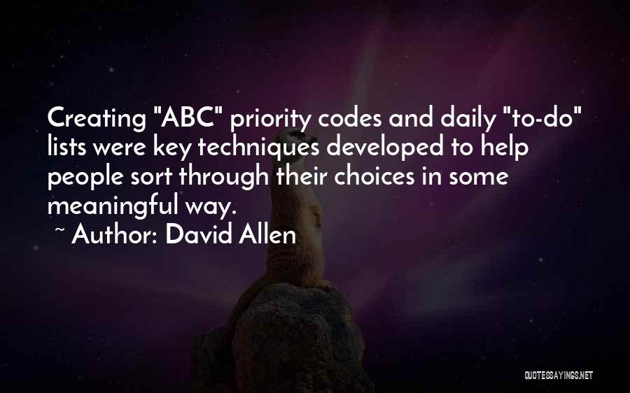 David Allen Quotes 183730