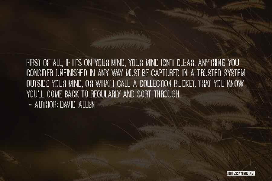 David Allen Quotes 1920646