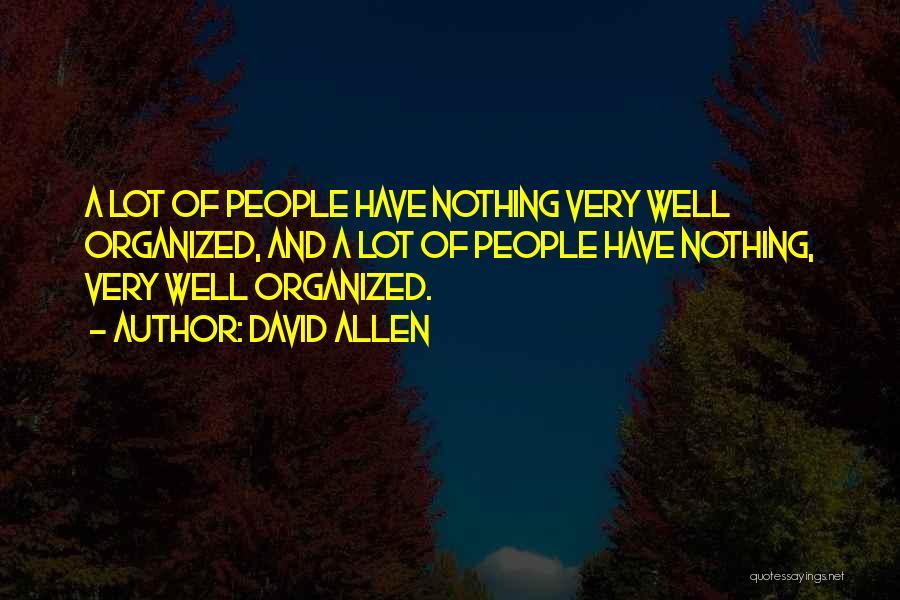 David Allen Quotes 257959