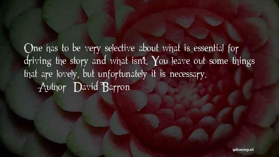 David Barron Quotes 980817