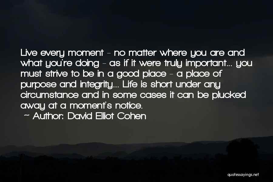 David Elliot Cohen Quotes 918107