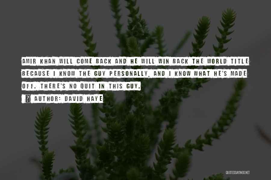 David Haye Quotes 95018
