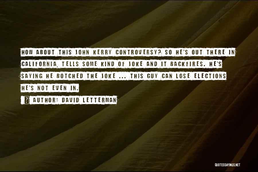 David Letterman Quotes 90544