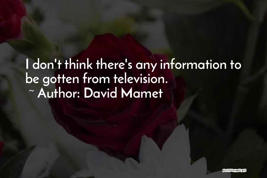 David Mamet Quotes 478313
