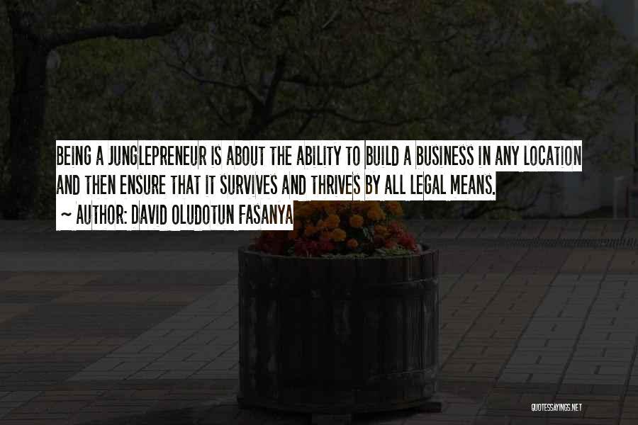 David Oludotun Fasanya Quotes 1422803