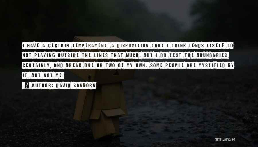 David Sanborn Quotes 105354