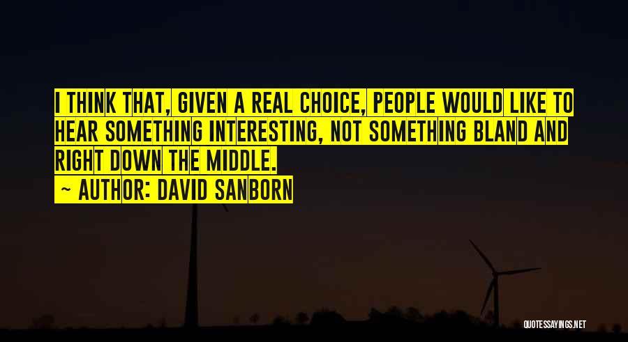 David Sanborn Quotes 2177589