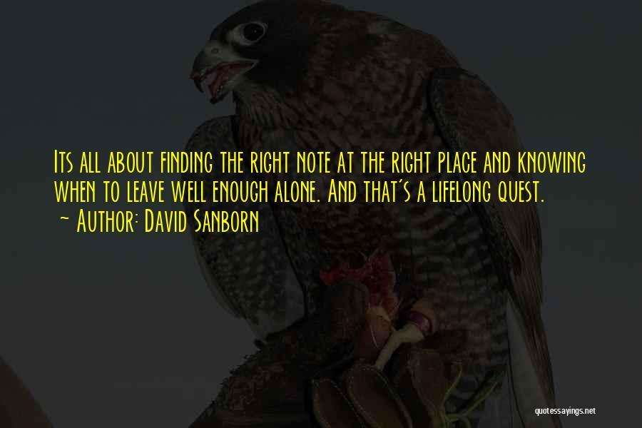 David Sanborn Quotes 748635