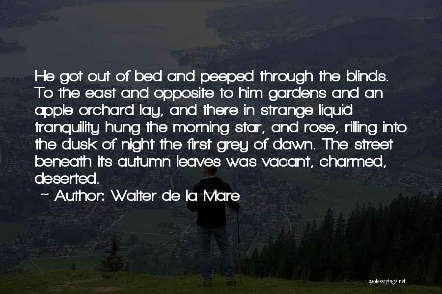 Dawn Till Dusk Quotes By Walter De La Mare