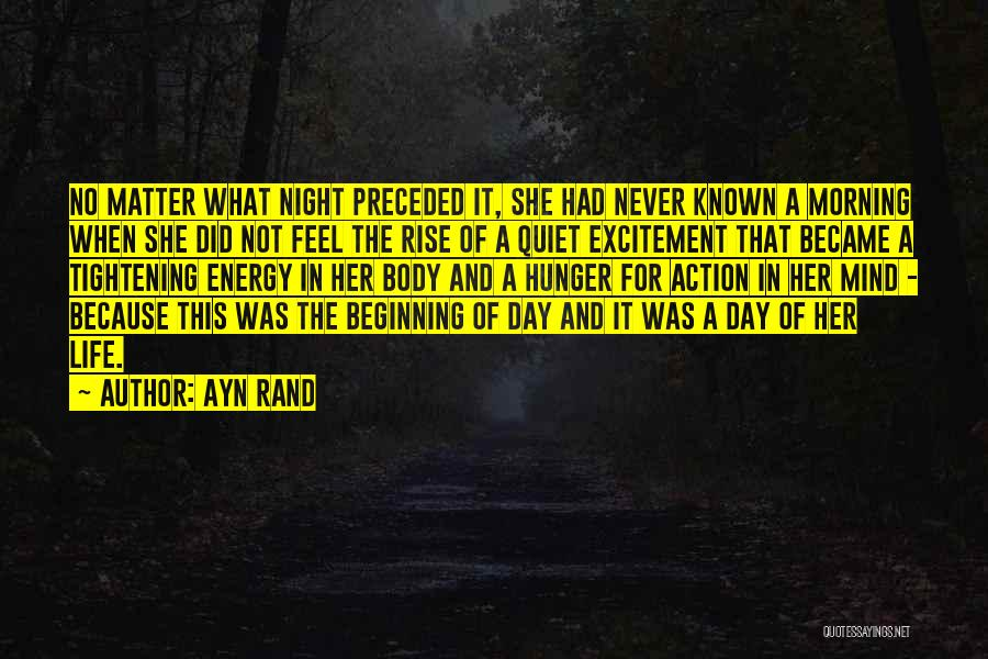 Day Morning Quotes By Ayn Rand