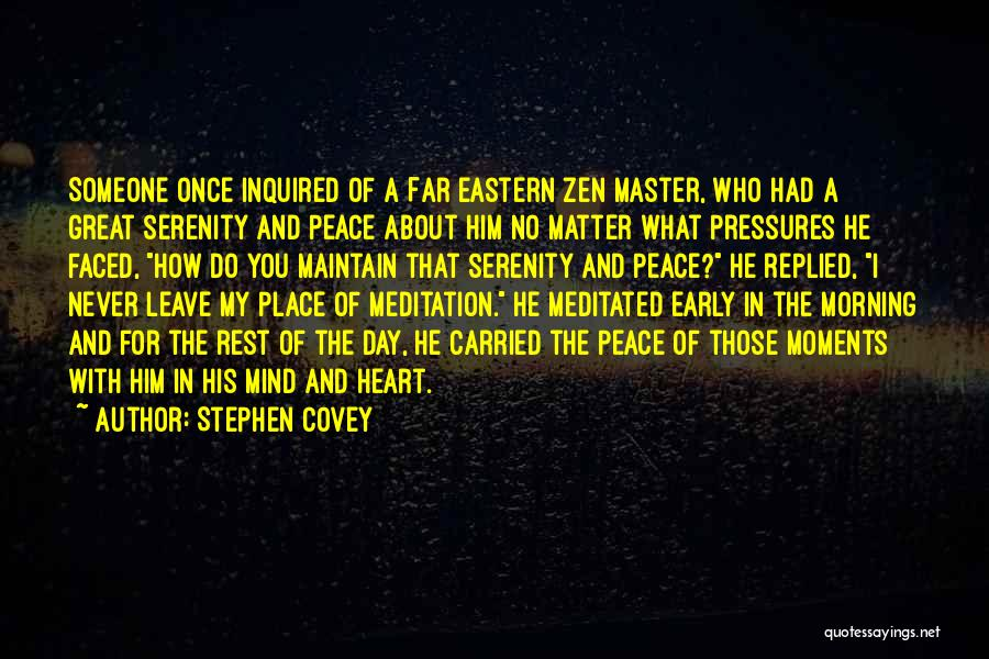 Day Morning Quotes By Stephen Covey