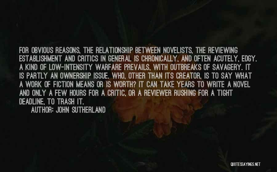Deadline Quotes By John Sutherland