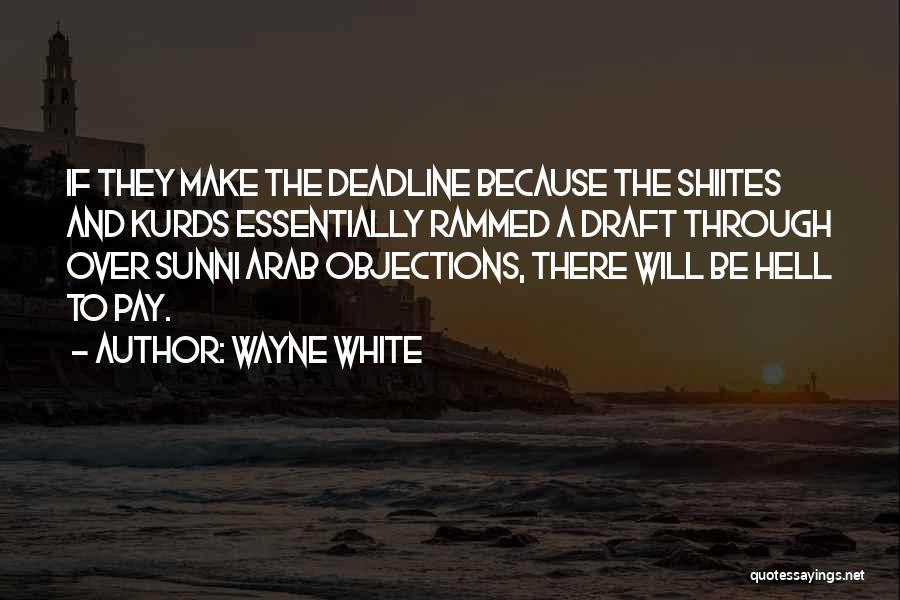 Deadline Quotes By Wayne White
