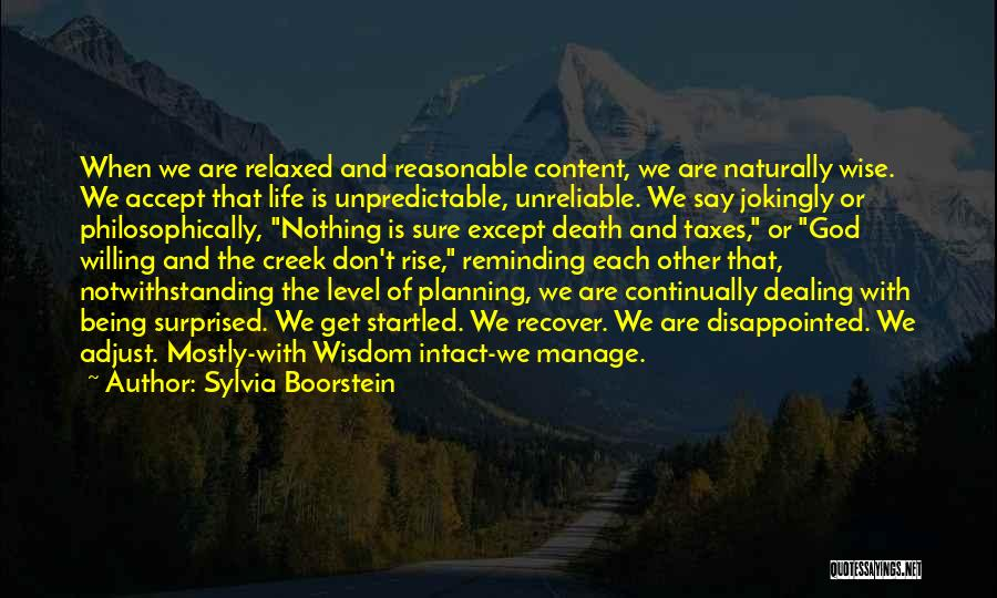 Dealing With Death Quotes By Sylvia Boorstein