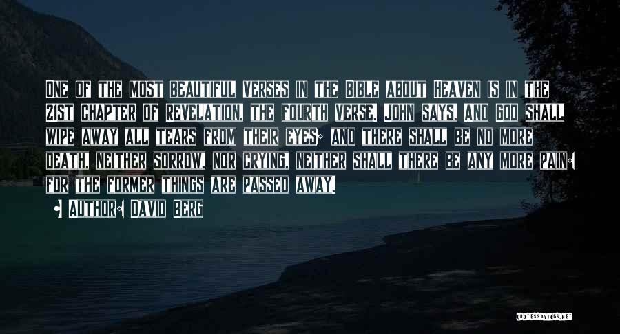 Death Bible Verses Quotes By David Berg