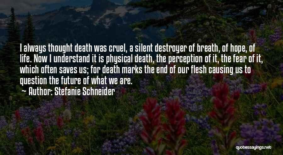 Death End Of Life Quotes By Stefanie Schneider