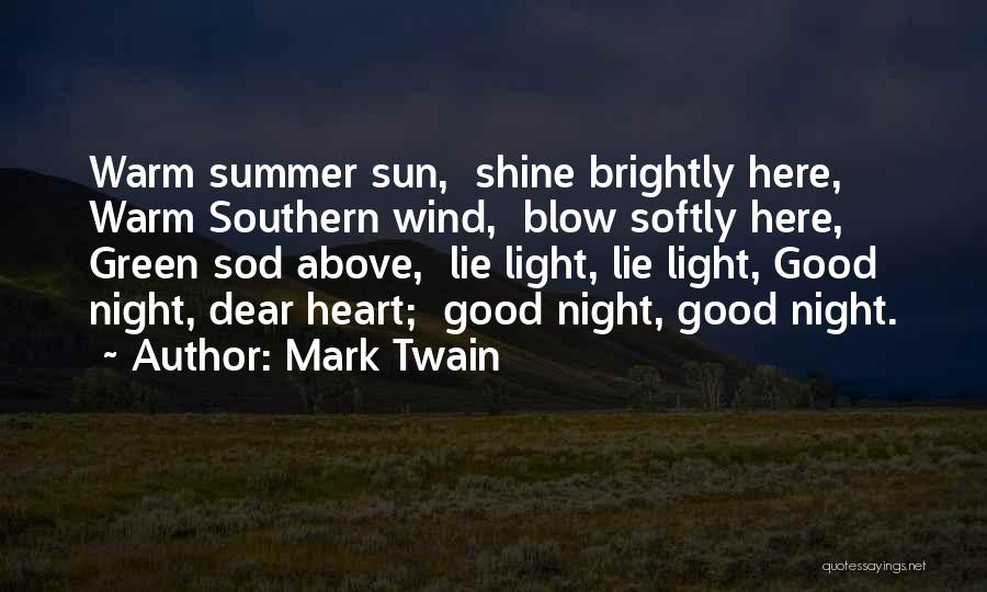 Death Eulogy Quotes By Mark Twain