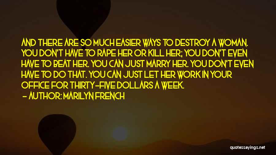 Death Gets Easier Quotes By Marilyn French