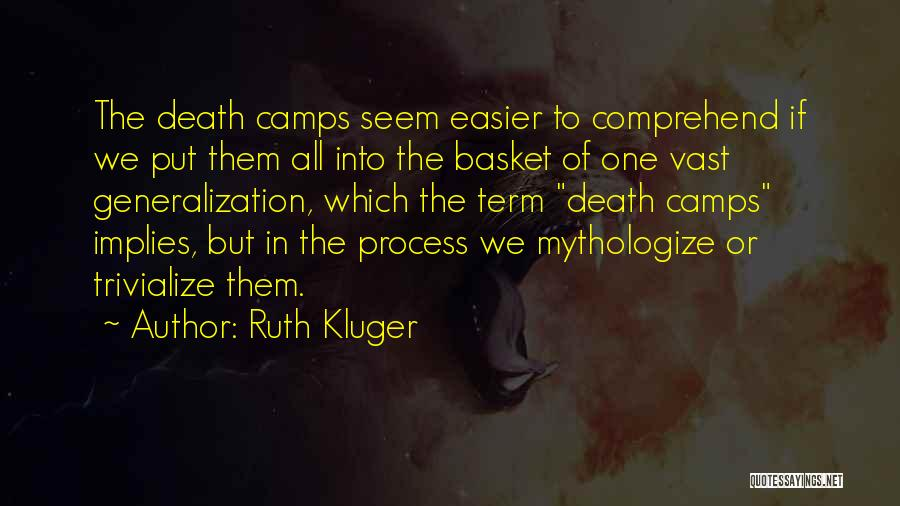 Death Gets Easier Quotes By Ruth Kluger