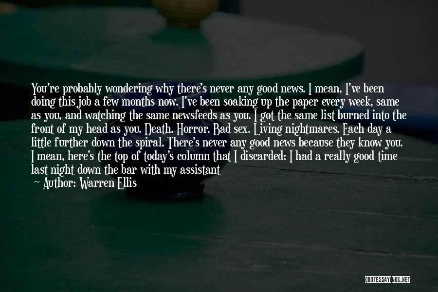Death Head Quotes By Warren Ellis