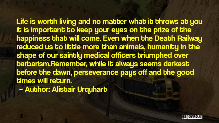 Death In War Quotes By Alistair Urquhart