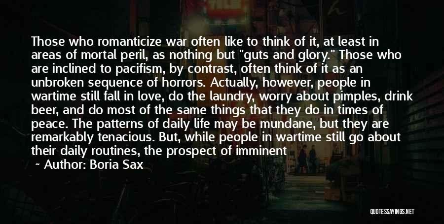 Death In War Quotes By Boria Sax