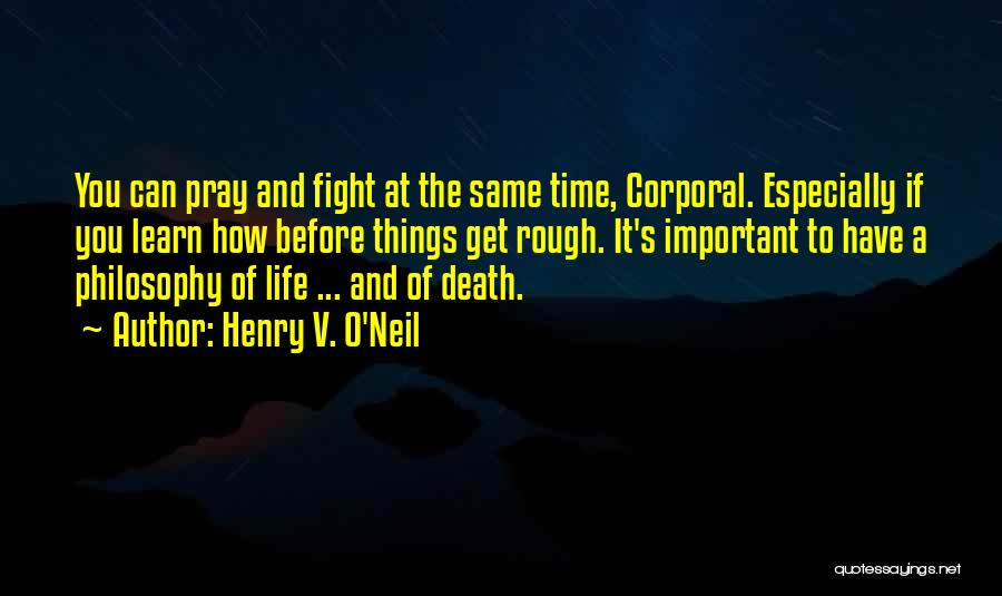 Death In War Quotes By Henry V. O'Neil