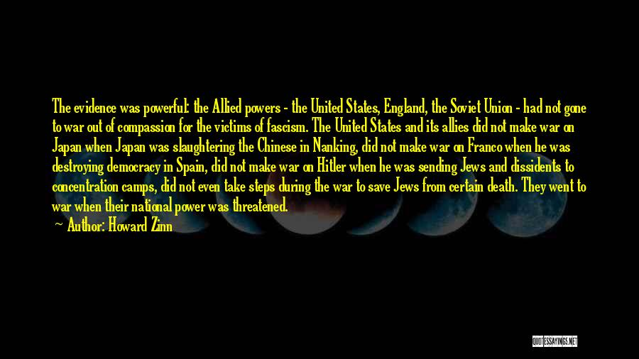 Death In War Quotes By Howard Zinn