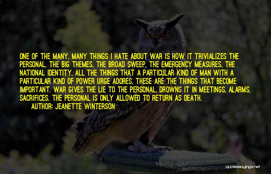 Death In War Quotes By Jeanette Winterson