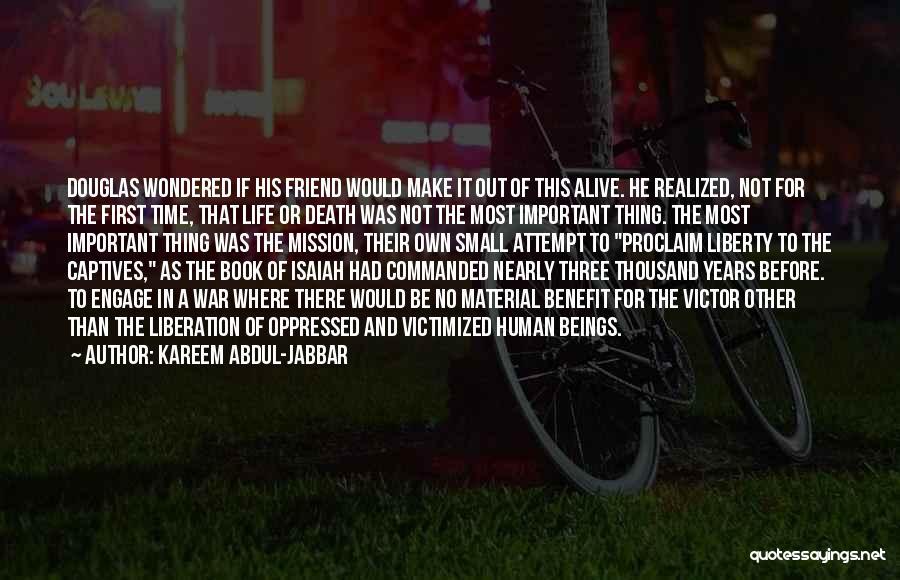 Death In War Quotes By Kareem Abdul-Jabbar