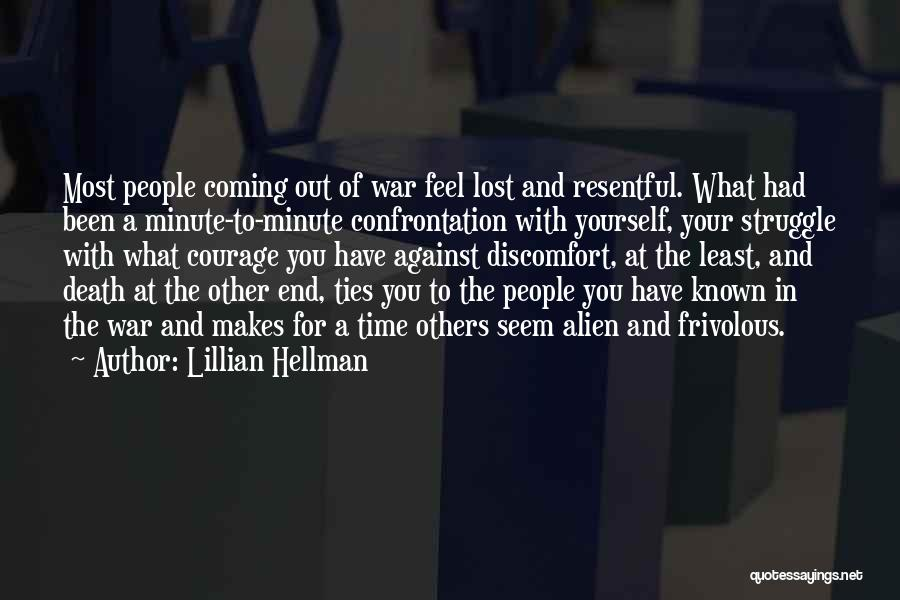Death In War Quotes By Lillian Hellman